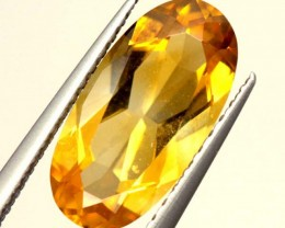 CITRINE NATURAL  FACETED HIGH CLARITY  1.9CTS ADG-612