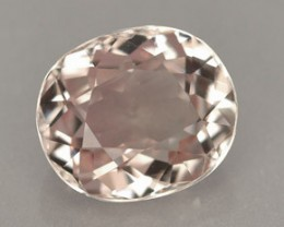 1.05 CARAT WEIGHT OVAL GOLDEN PINK TOURMALINE GEM