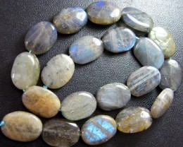 COLORFUL LABRADORITE BEADS STRAND  250 CTS [LM 1]