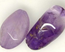 AMETHYST BEAD NATURAL 2 PCS 29 CTS  NP-1353