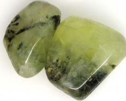 PREHNITE BEAD DRILLED 2 PCS 65 CTS  NP-1547