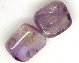 AMETHYST BEAD NATURAL2 PCS 22 CTS  NP-1359