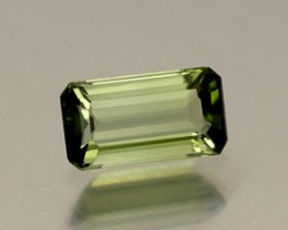TOURMALINE GREEN .98 CARAT WEIGHT EMERALD CUT GEMSTONE NR