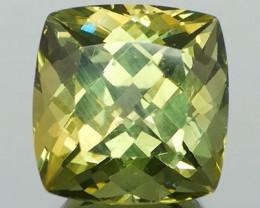 *$15 NR Bidding* Olive Green Sq Cushion Apatite 11.68Ct