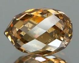 Unusual Briollete Cognac Diamond  1.38Ct NO TREATMENT