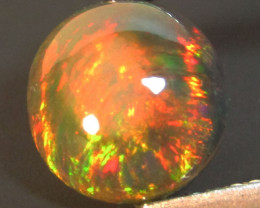 1.82Cts Natural Earth Mined Color Play Black Opal Round Cabochon Gem REF VO