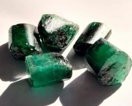 Rough Natural Emerald - Brazil, Rough Good quality emerald ( 5 Gemstones ),
