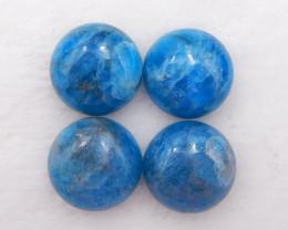 D1970 - 27cts 4pcs Blue Apatite Crystal Cabochons,Natural Gemstone Cabochon