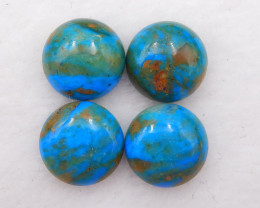 D1972 - 18cts Natural Blue Opal Cabochons, October Birthstone, Blue Opal Ca
