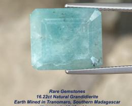 16.22ct Rare Grandidierite - Tranomaro South Madagascar / 16.18 x 14mm