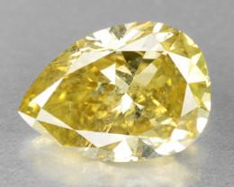 Diamond 1.34 Cts Sparkling Greenish Yellow Natural