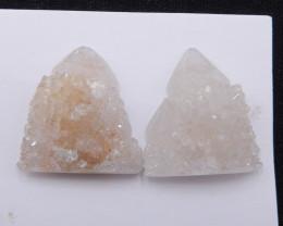 P0283 - 83.5Ct Natural Quartz Gemstone Rough Pair,Natural Quartz Pair