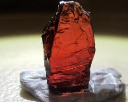3.05  Crt Rhodolite Garnet Facet Rough Crystal Piece From Mozambique
