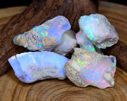 Welo Opal Rough 61.98Ct Natural Ethiopian Flash Color Rough Opal B1122