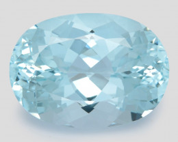 28.47 Cts Un Heated  Santa Maria Blue  Natural Aquamarine  Gemstone