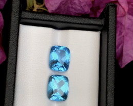 Top Grade 7.30 ct lovely Swiss Topaz Ring Size Pair ~RM