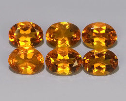 6.20 CTS TOP DAZZLING NATURAL OVAL CUT ULTRA RARE CITRINE NR!