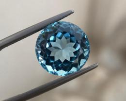 13.40 carat fancy cut Swiss topaz
