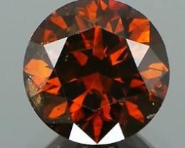 *NR* Orange Cognac Diamond Round Brilliant 1.15Ct NO TREATMENT