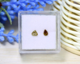 Diamond 0.41Ct 2Pcs Natural Untreated Genuine Fancy Diamond B1304