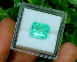 Muzo 2.86Ct Natural Colombian Emerald Neon Mint Green Beryl B1313