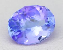 Tanzanite 2.09Ct VVS Master Cut Unheated Purplish Blue Tanzanite B1316