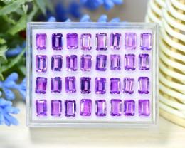 Bolivian Amethyst 20.16Ct Octagon Cut Natural Purple Amethyst Lot B1319