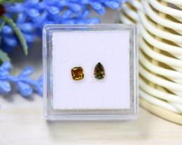 Yellow Green Diamond 0.57Ct 2Pcs Untreated Genuine Diamond B1320