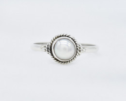 PEARL RING 925 STERLING SILVER NATURAL GEMSTONE AR1599
