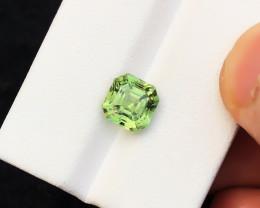 HGTL CERTIFIED 2.70 Ct Natural Green Transparent Tourmaline Gemstone