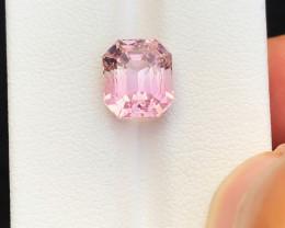 HGTL CERTIFIED 4.17 Ct Natural Pink Transparent Tourmaline Gemstone