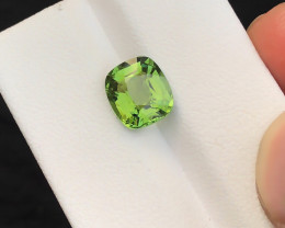 HGTL CERTIFIED 2.97 Ct Natural Green Transparent Tourmaline Gemstone