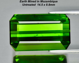 HOLD FOR CLIENT  8.18ct Green Tourmaline- Untreated / 14.5 x 8.8mm