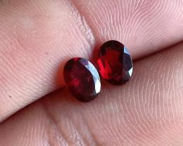 Garnet Gemstone pair 100% NATURAL AND UNTREATED VA525