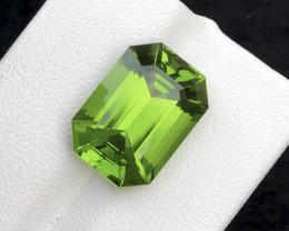 12.06 Carat Natural  One Of Best Emerald Cut Peridot