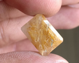 Golden Rutilated Quartz Faceted Gemstone 100% NATURAL AND UNTREATED VA565