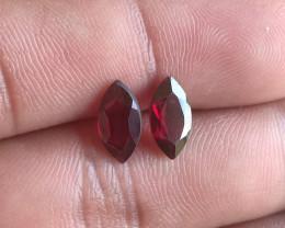 10x5 mm Garnet Pair Marquise cut 100% NATURAL AND UNTREATED VA571