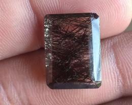 Black Rutilated Quartz Faceted 100% NATURAL AND UNTREATED VA574