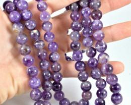 1258.5 Tcw. 3 Strand Amethyst Necklace - Beautiful