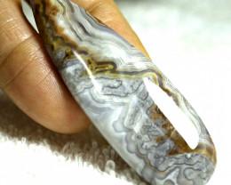 74.30 Carat 66mm Lace Agate Cabochon - Gorgeous