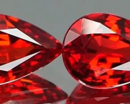 *Bidding Starts $15 NR* Bright Red Clean Ruby Pair 0.83Cts
