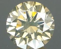 Yellow Champagne Round Brilliant Diamond 0.52ct NO TREATMENT