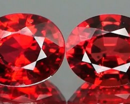 *Bidding Starts $15 NR* Sparkly Fire Engine Red Ruby Pair1.23Ct