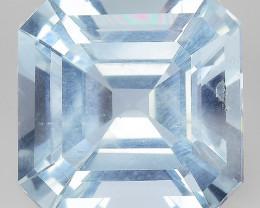 Aquamarine 4.98 Cts Unheated  Santa Maria Blue  Natural Gemstone