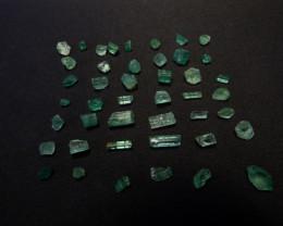 32ct Transulscent Facet grade rough Swat emerald crystals
