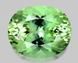 Flawless glittering Namibian mint green tourmaline.