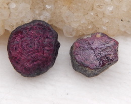 D2002 - 16cts Red Ruby Gemstones, Ruby Cabochons, Ruby Slices, Rose Cut Sli