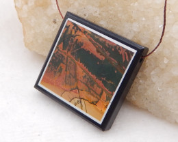 D2007 - 81.5cts Natural Multi-Color Picasso Jasper,White Agate,Obsidian Int