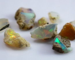 25.90 CTs Natural & Unheated~White Opal Rough Lot