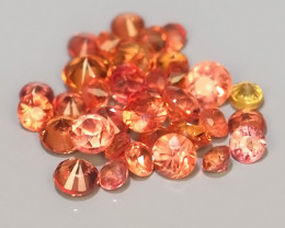 0.70 CTS~Excellent Natural Intense Beautiful Orange red Sapphire Round!!